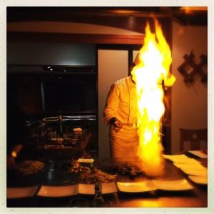 Koch in Flammen