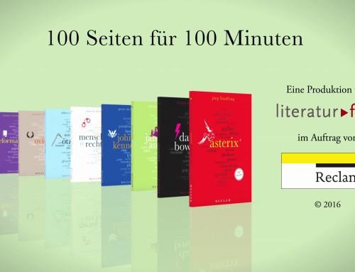 """Produkttrailer für die neue Reihe """"reclam 100 Seiten"""""""