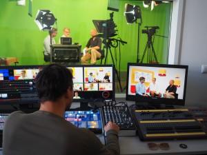 Blick hinter die Kulissen von Salve TV.